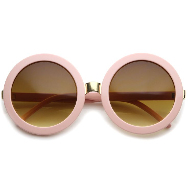 - Description - Measurements - Shipping - Take a trip to the past with these retro-inspired sunglasses designed with a bold round frame that give off 60's vibes. Contrasted with gold-hued metal hinges