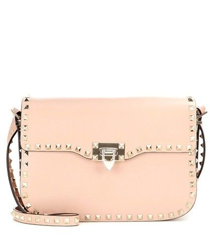 ROCKSTUD MEDIUM LEATHER SHOULDER BAG VALENTINO