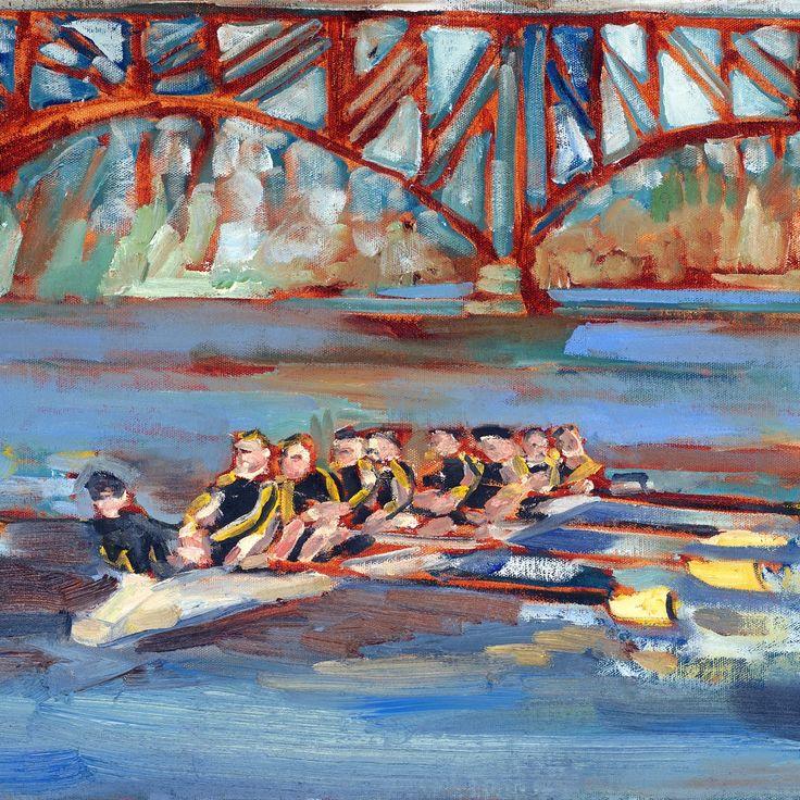 Race: Crew team rowing Schuylkill River