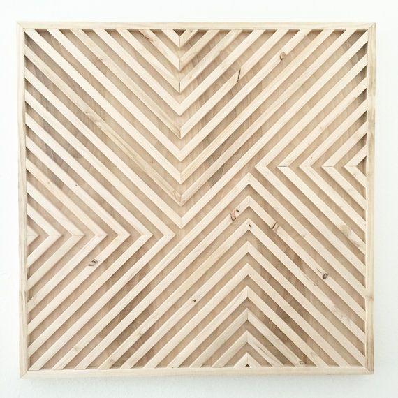 404 Not Found Geometric Wall Art Wood Wall Art Reclaimed Wood Art