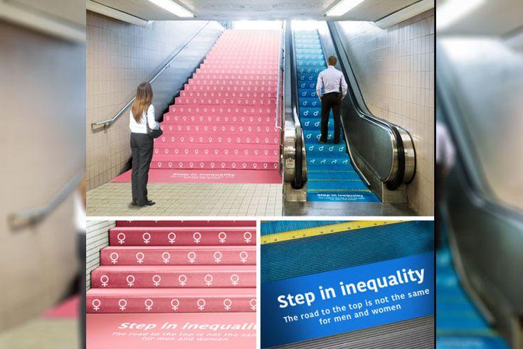 La campaña publicitaria en EEUU que representa la desigualdad de género en el mundo empresarial