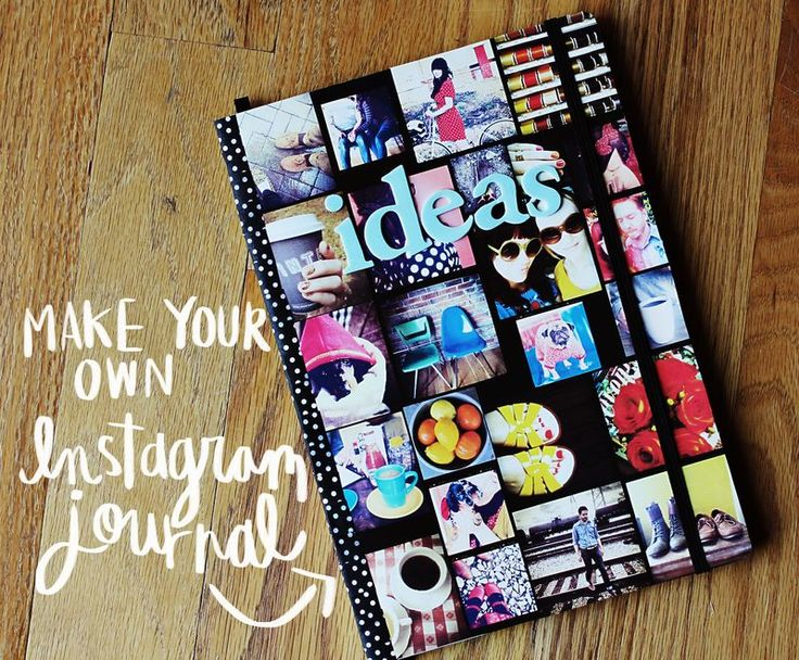 make your own instragram journalJournals Covers, Diy Crafts, Journal Covers, Gift Ideas, Photos Collage, Instagram Journals, Diy Projects, Vintage Style, Instagram Photos
