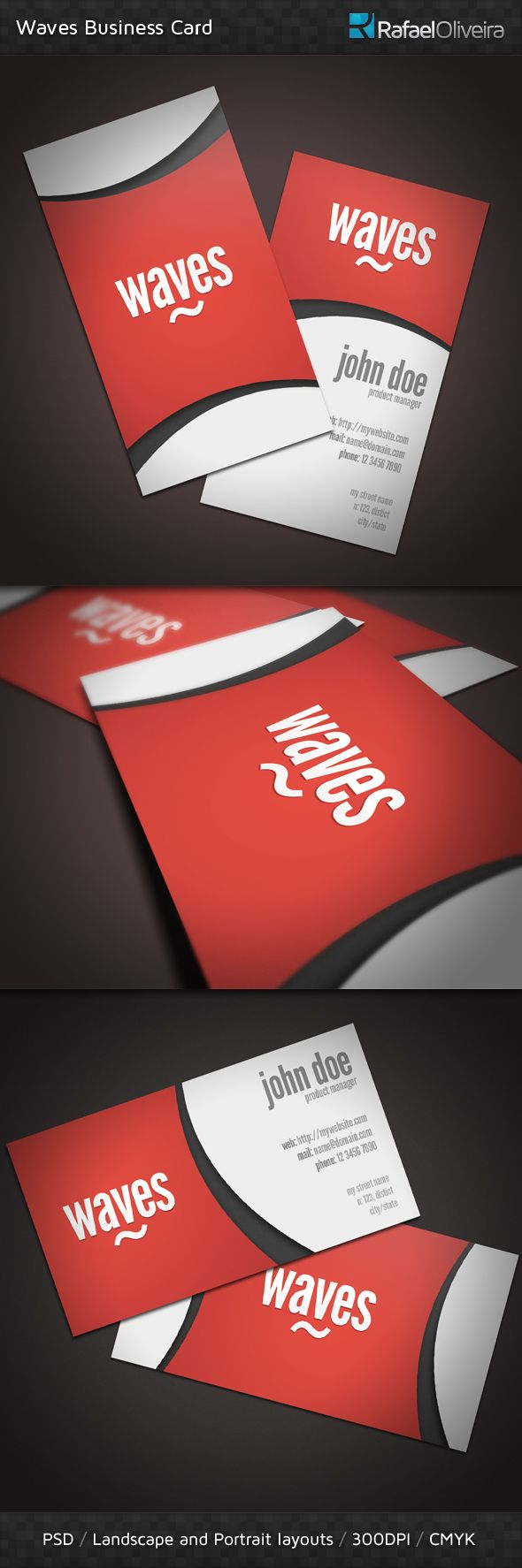 The 16 best business cards images on pinterest business cards buy waves business cards by rafaeloliveira on graphicriver waves is a beauty looking template with great colors and a creative design its perfect for reheart Images