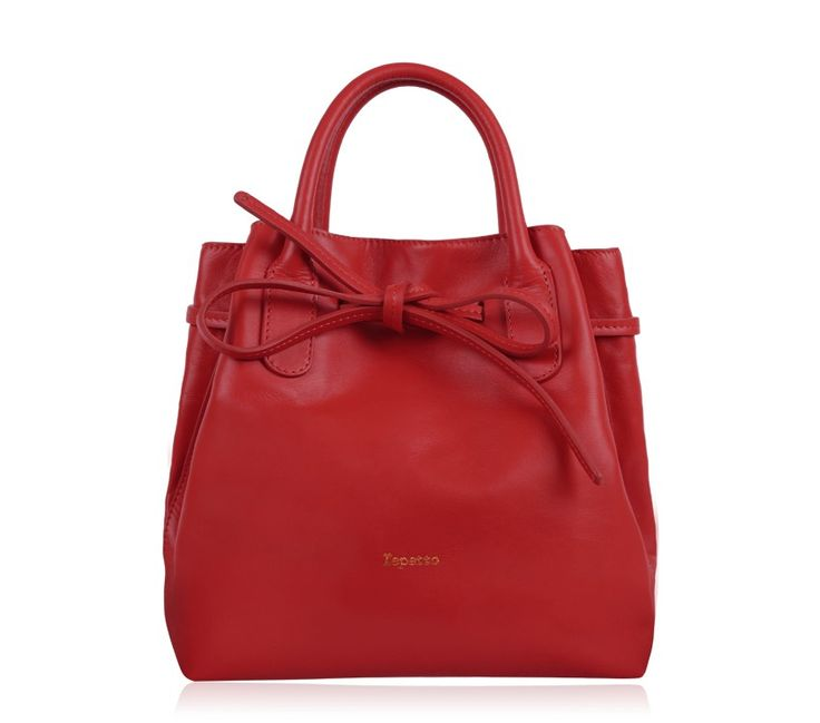 "Medium Shopping Bag ""Arabesque"". Flammy Red Paris calfskin. #Repetto #RepettoBags #Red #Flammy #RepettoArabesque"