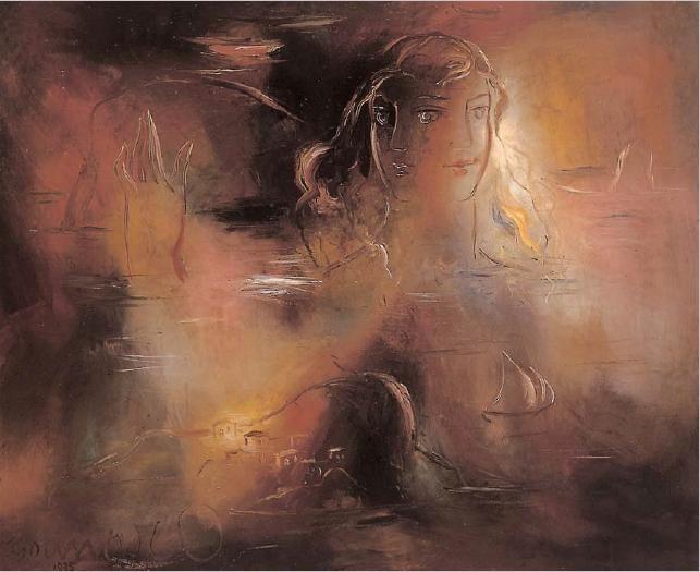 Γιώργος Γουναρόπουλος, «Γυναικεία μορφή» με δύο πρόσωπα στη θάλασσα.