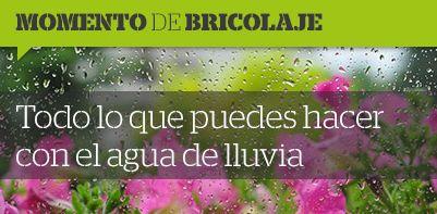 ☂️Momentos de #bricolaje☂️ Te enseñamos cómo adaptar el sistema de riego de tu jardín a los días de lluvia con un sensor y un depósito. #DIY #tanfácilquenotelocrees 😉
