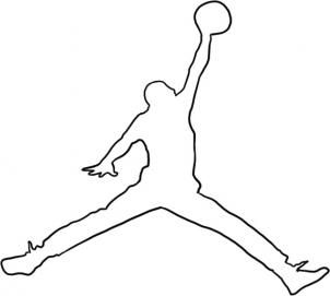 How to draw Jordan Jumpman flight logo