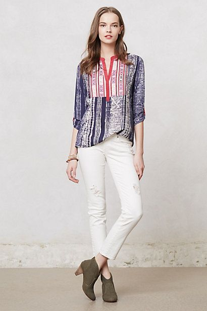 Embroidered Ashbury Tunic #anthropologie