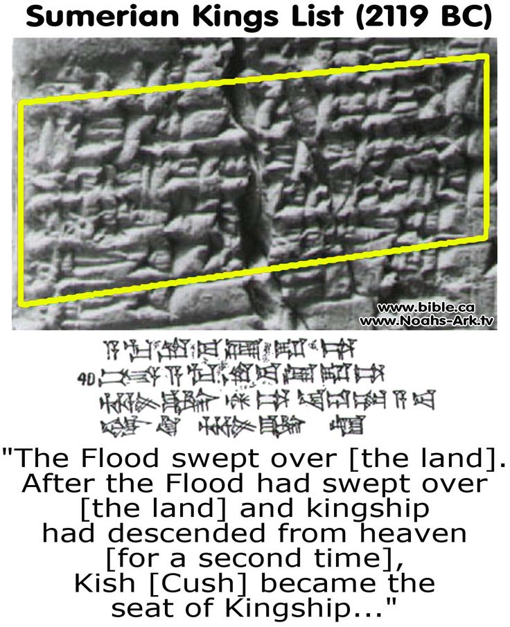 The flood listed in history - Kish or Cush was Noah's grandson. he had a son named Nimrod