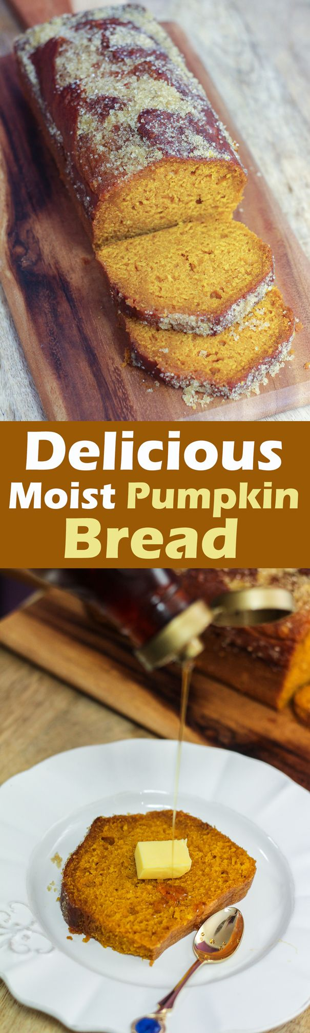 Moist Pumpkin Bread | Recipe | Moist Pumpkin Bread, Pumpkin Bread ...
