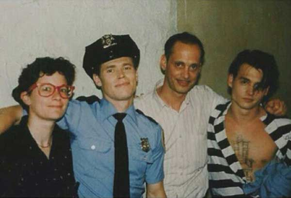 Rare and beautiful celebrity photos   Willem Dafoe, John Waters and Johnny Depp