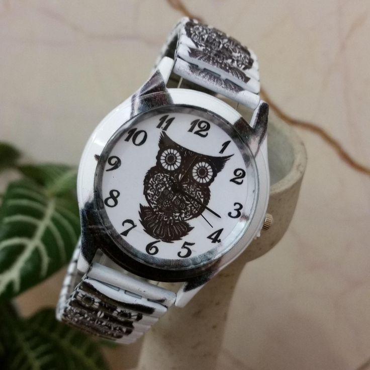 Owl Printing elastic band Steel Unisex Personality Wrist Watches Metal Case Quartz Watch Women zegarki damskie #Affiliate