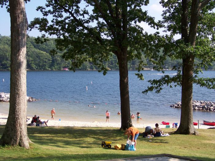 Deep Creek Lake State Park The grand lake in Garrett County is only one of the features of Deep Creek State Park. This park is a popular location for water sports, fishing, and mountain biking.