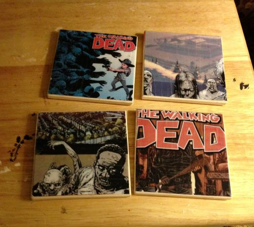 diy walking dead coasters