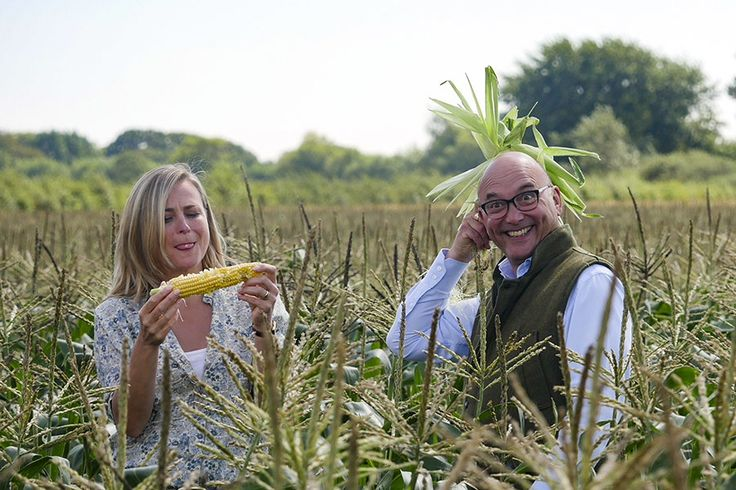 Fooling around at the filming of BBCTwo's #Harvest2015 with Philippa Forrester & Gregg Wallace. Image via Carl Pendle.