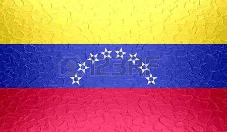 bandera de venezuela: Bandera de Venezuela en la textura del metal metálico Foto…