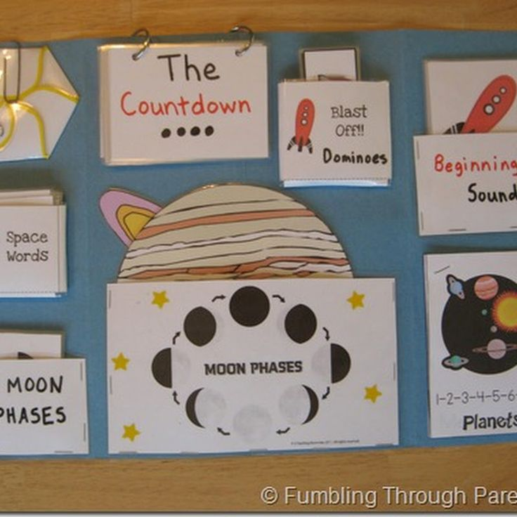 Fumbling Through Parenthood (& Homeschooling): Space Lapbook – Making It