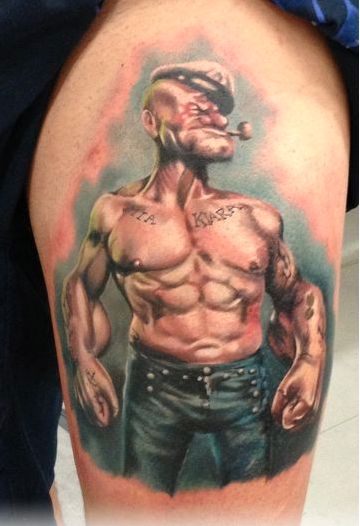 Tattoo Popeye: 43 Best Popeye Tattoos Images On Pinterest