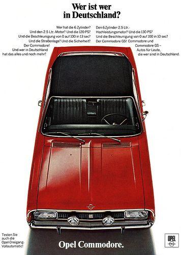 Opel Commodore A (1969) GS Wer ist wer in Deutschland?