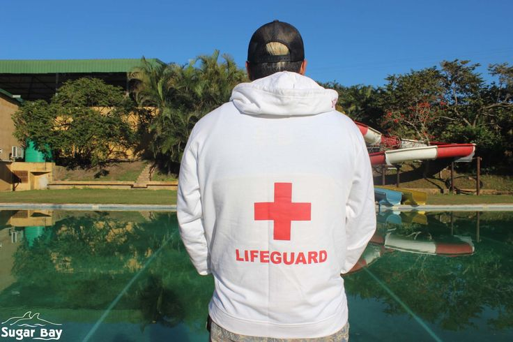 Our Life Guard on duty before the kids hit the pool.