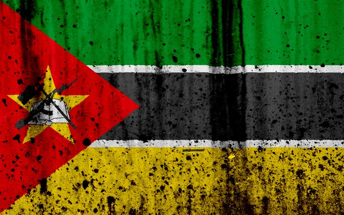 Download wallpapers Mozambique flag, 4k, grunge, flag of Mozambique, Africa, Mozambique, national symbols, Mozambique national flag