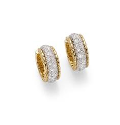 Flex'It Niue. Yellow gold earrings with diamonds