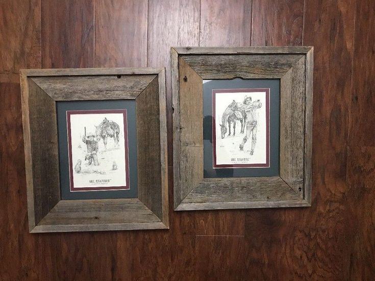 Framed Art Print Tom Greenwood Golf Set Of 2 Reclaimed Barn Wood Frames  | eBay