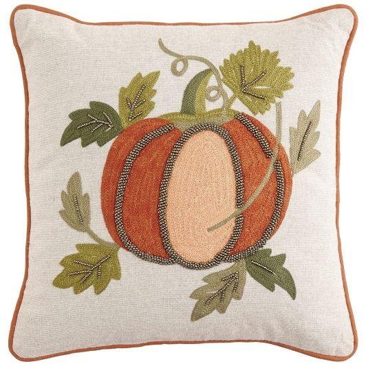Embellished & Beaded Pumpkin Pillow Pier 1 Imports