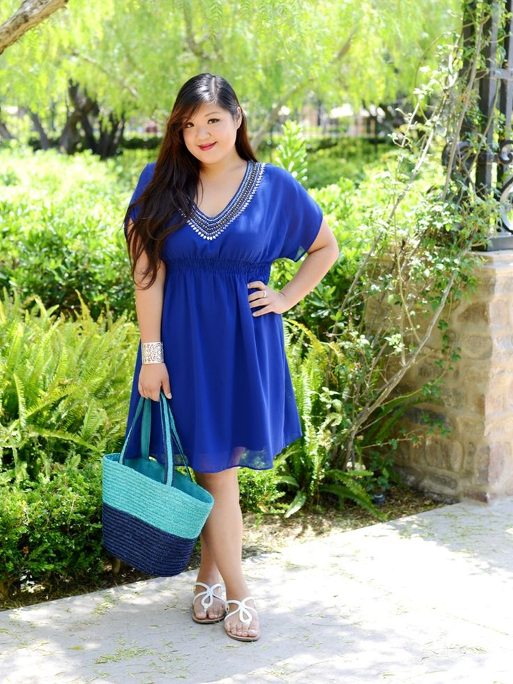 Curvy Girl Chic Plus Size Fashion Blog | Scarlett and Jo Embellished Dress $75.00