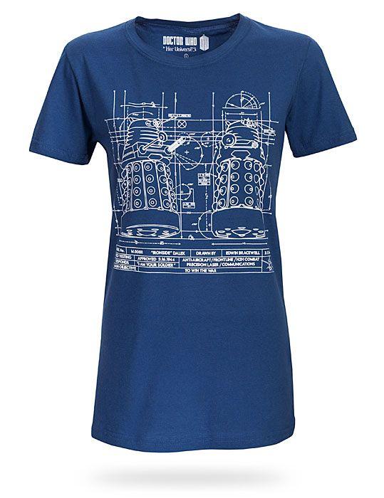 Dalek Blueprint Ladies Tee