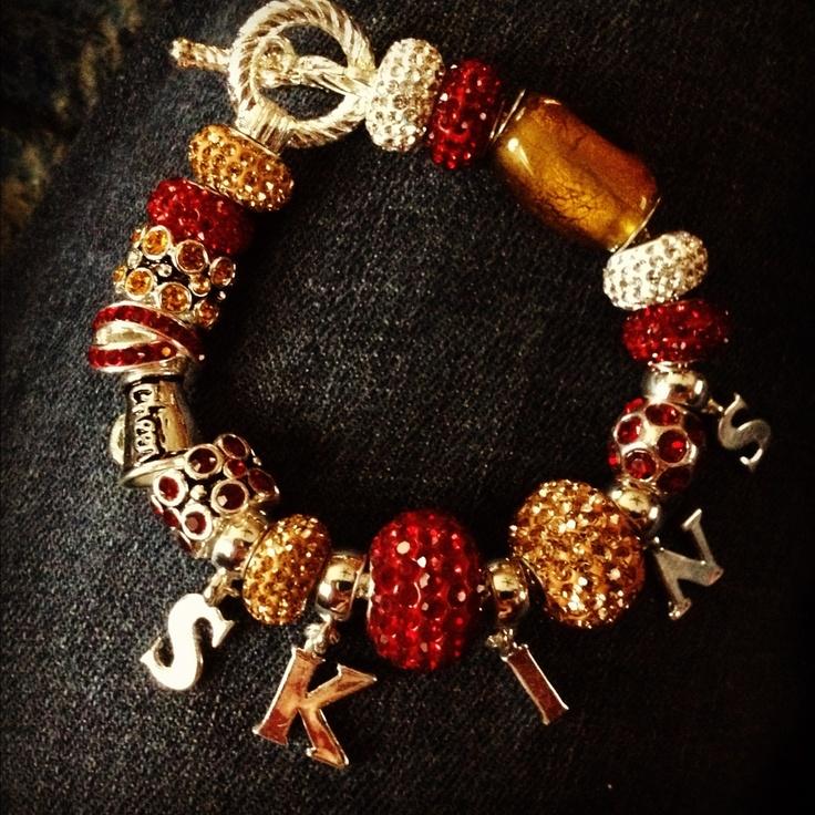 Redskins charm bracelet. I would wear it on gameday.