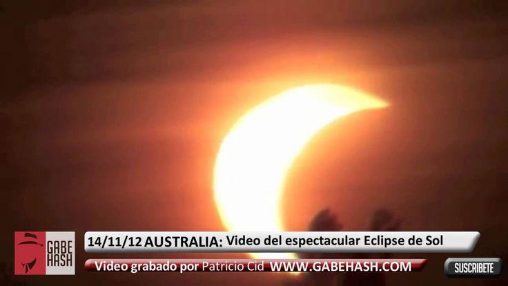 VIDEO DEL ESPECTACULAR ECLIPSE TOTAL DE SOL 13 -14 NOVIEMBRE 2012