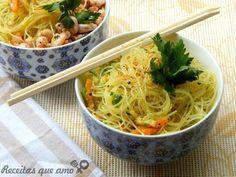 Bifum ao curry com vegetais
