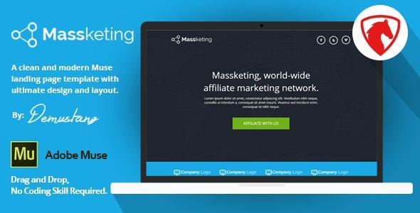 Massketing Muse Landing Page Template