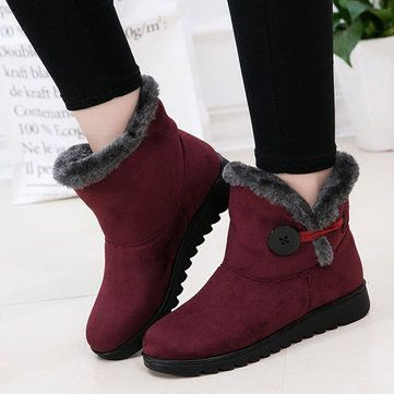 Buckle Comfortable Keep Warm Soft Ankle Snow Boots For Women is hot-sale.  Come to NewChic to buy womens boots online Mobile.