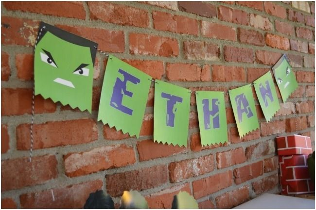 hulk party decorations | themed party . I love the vintage feel in this boy's super hero party ...