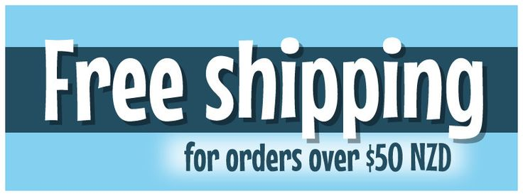 Free shipping on all orders over $50 NZD