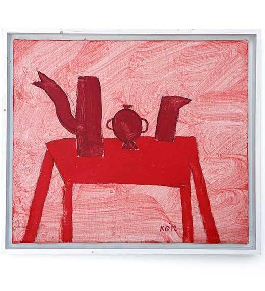 """""""Rood stilleven"""" by Klaas Gubbels, 2012   Galerie Indruk"""