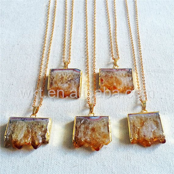 WT-N802 Christmas Presents For Women Natural Citrine Jewellery
