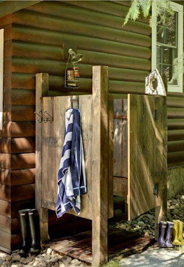 Duchas al aire libre: relax en estado puro.   Decorar tu casa es facilisimo.com