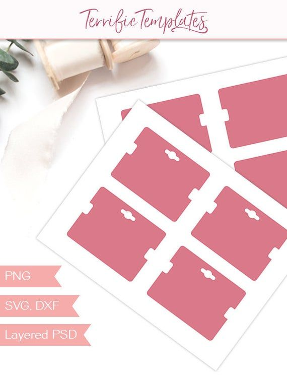 Bracelet Card Template 3x4 Jewelry Hang Tag Packaging Design Your Own With A Silhouette Or Packaging Template Design Card Template Jewelry Packaging Design