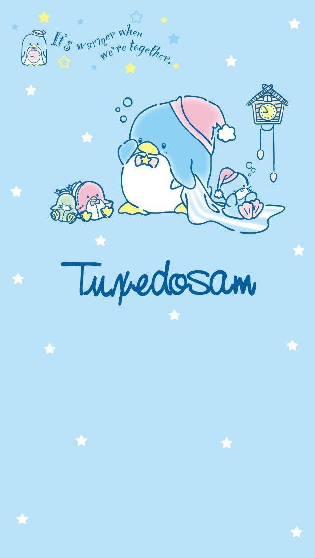 タキシードサム キャラクター サンリオ サンリオ イラスト 待ち受け 可愛い ゆめかわいい 背景