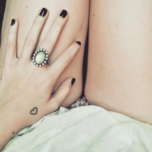 Pin for Later: 100 Real-Girl Tiny Tattoo Ideas For Your First Ink Heartfelt