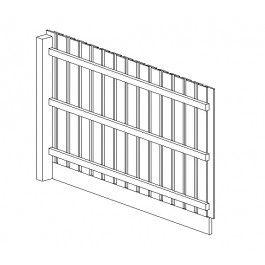 Closeboard Fence Panel Revit family