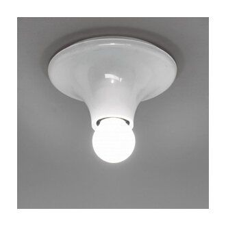 Vico Magistretti Teti Lamp Wall-ceiling. Assembled body in translucent polycarbonate or in thermoplastic resin for white version only. Direct light emission.