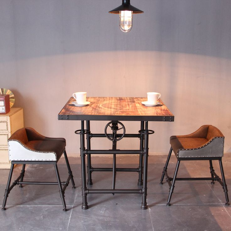 Lift Top Coffee Table Art Van: American Industrial Retro Dining Table And Chairs, Wrought