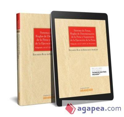 Resultado de imagen de Sistema de penas, reglas de determinación de la pena y suspensión de la ejecución de la pena : adaptado a la LO 1-2015, de 30 de marzo / Eduardo Ruiz de Erenchun Arteche