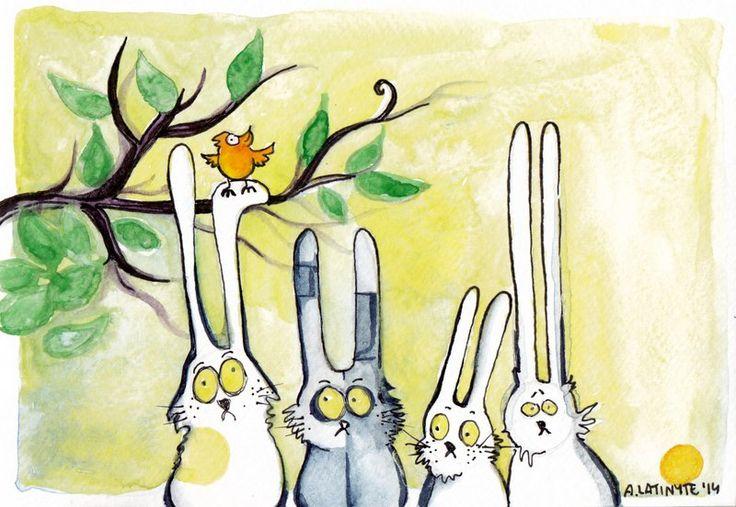 Spring Rabbits by Yuujin on deviantART