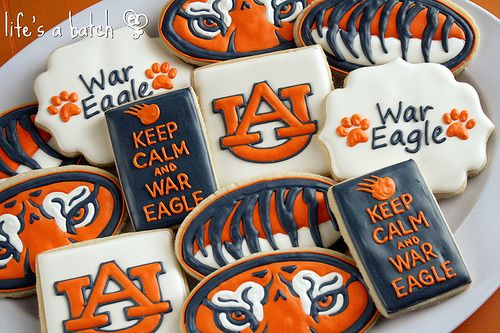 Auburn Cookies. (thinking Broncos w/ 'Keep Calm and Giddyup'
