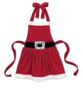 Amazon.com: Christmas Mrs. Clause Apron - Ganz Multi Purpose Christmas Santa Apron (Childs Size): Toys & Games